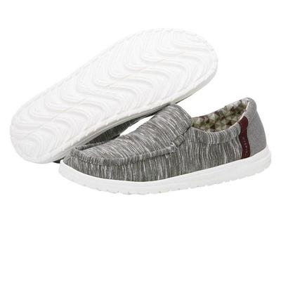 Hey Dude Men's Grey & Burgundy Mikka Shoes
