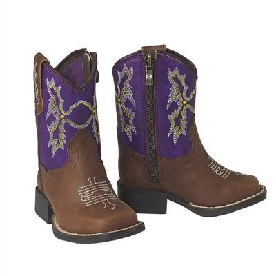 Ariat Lil 'Stompers Brown Tombstone Boots
