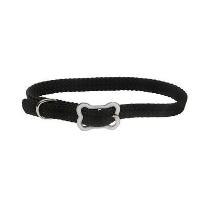Dog Collar with Bone Buckle BLK