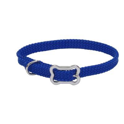 Dog Collar with Bone Buckle BLU