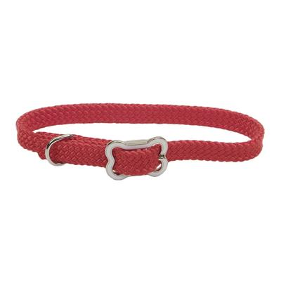 Dog Collar with Bone Buckle RED