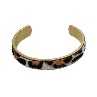 Leopard Metal Cuff Bracelet
