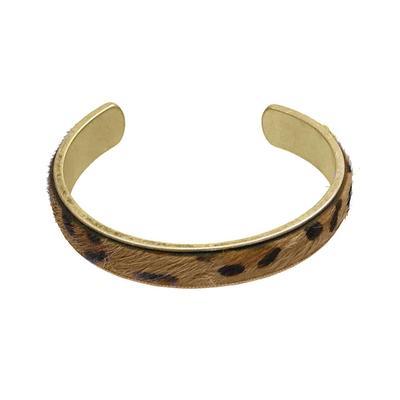 Cheetah Print Metal Cuff Bracelet