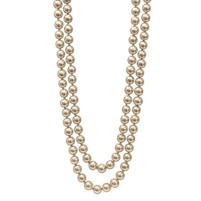 Champagne Long Pearl Necklace