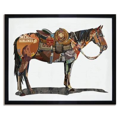 Western Horse 3D Collage Art