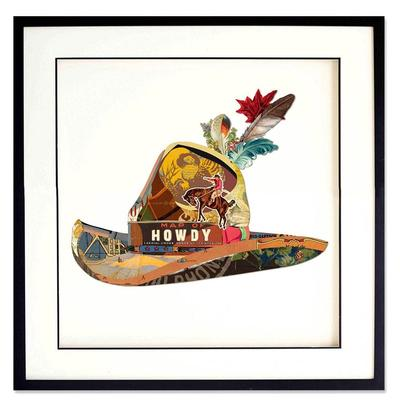 Howdy Hat 3D Collage Art