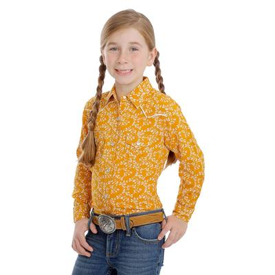 Wrangler Girl's Long Sleeve Western Snap Shirt