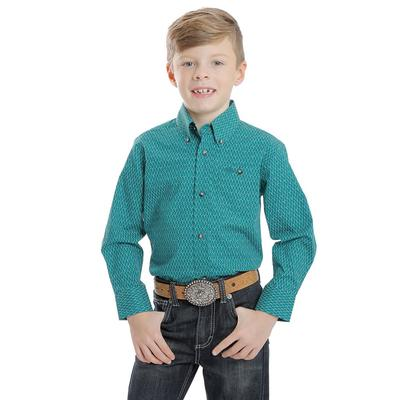 Wrangler Boy's Classic Button Down Shirt