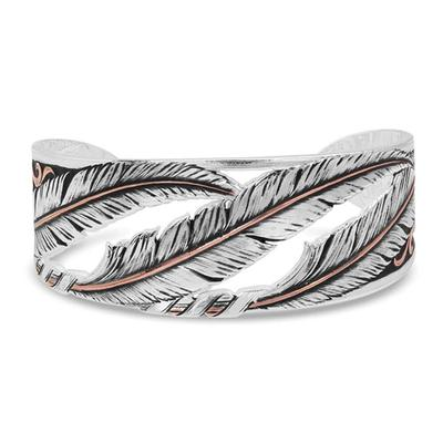 Montana Silversmiths' Wind Dancer Pierced Feather Cuff Bracelet