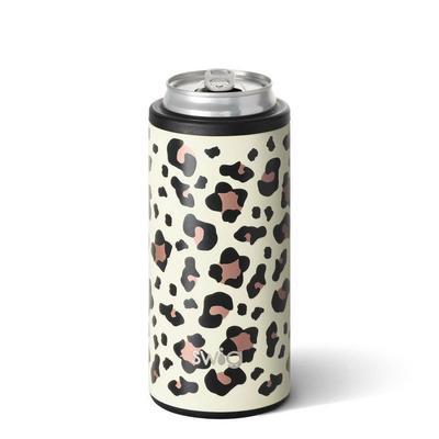 Swig Luxy Leopard 12oz Skinny Can Cooler