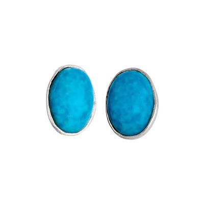 Women's Turquoise Oval Stud Earrings