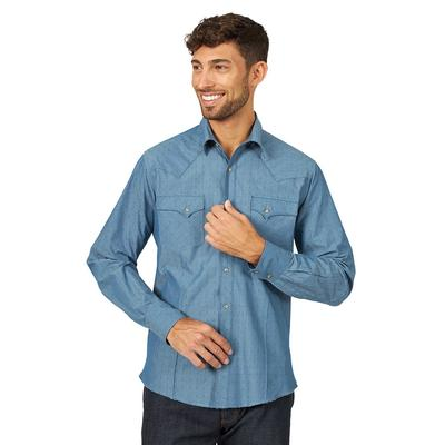 Wrangler Men's Long Sleeve Western Snap Shirt