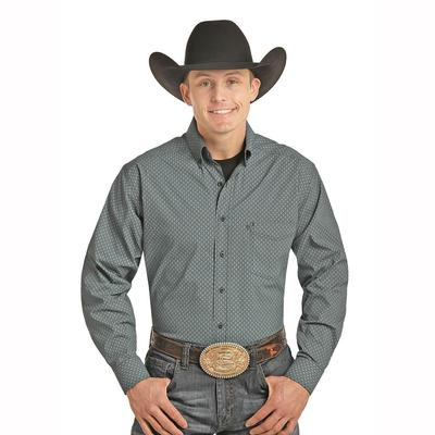Panhandle Slim Men's Long Sleeve Tuf Cooper Performance Button Down Shirt