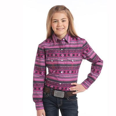Panhandle Slim Girl's Long Sleeve Snap Shirt