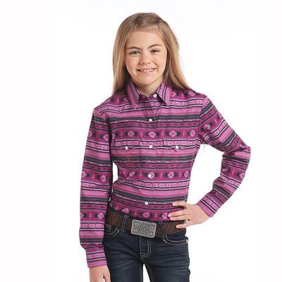 Panhandle Slim Girl's Long Sleeve Snap Shirt