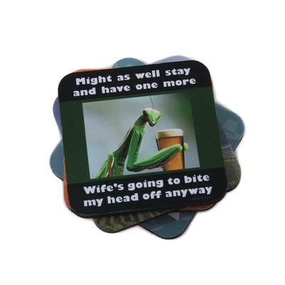 Bite My Head Off coaster