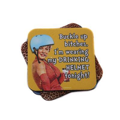 DRINKING HELMET COASTER