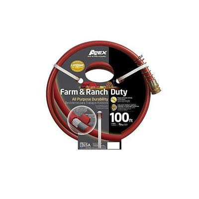 Garden Hose, Farm & Ranch Duty, 450 PSI, Dark Red, 3/4-In. x 100-Ft.