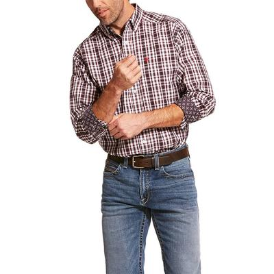 Ariat Men's Long Sleeve Clarkston Wrinkle Free Shirt