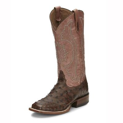 Tony Lama Exotic Ostrich Square Toe Boots