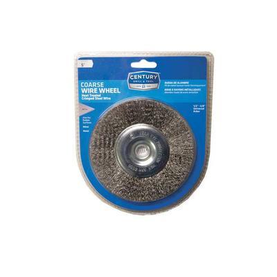 Bench Grinder Crimped Wire Wheel, 5