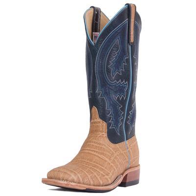 Anderson Bean Men's Blue Navajo Bison Umber Elephant Boots
