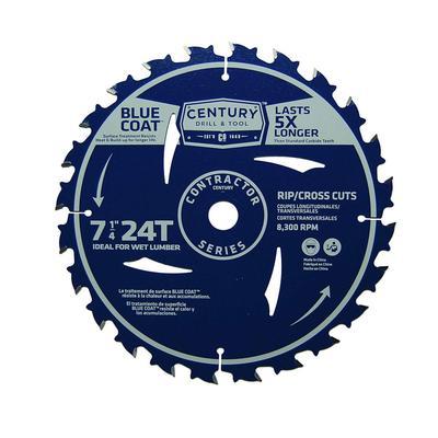 Contractor Series Combination Carbide Circular Saw Blade, 7- 1/4