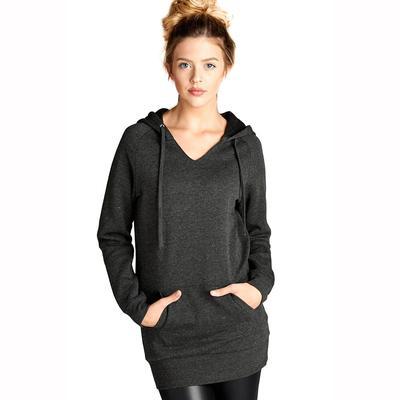 Active Basic Women's Long Sleeve V-Neck Hoodie HCH