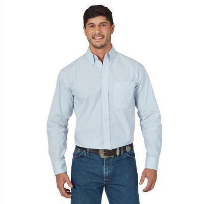 Wrangler Men's Long Sleeve George Strait Relaxed Fit Shirt
