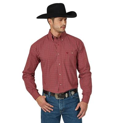 Wrangler Men's Long Sleeve One Pocket George Strait Shirt