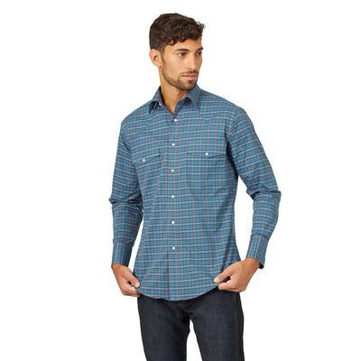 Wrangler Men's Long Sleeve Relaxed Fit Wrinkle Resistant Shirt