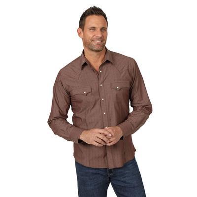 Wrangler Men's Long Sleeve Modern Fit Snap Shirt