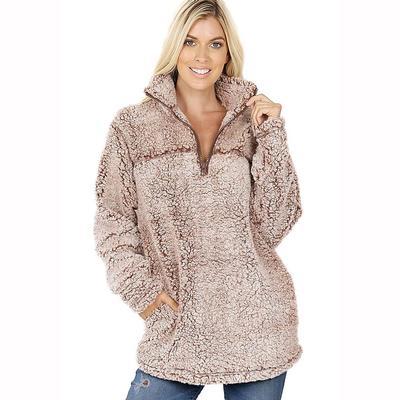 Women's Long Sleeve Sherpa Pullover