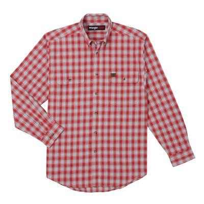 Wrangler Men's Long Sleeve Riggs Foreman Plaid Shirt