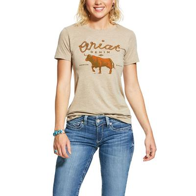 Ariat Women's Oat Denim T-Shirt