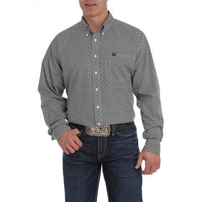 Cinch Men's Black And Purple Medallion Print Shirt