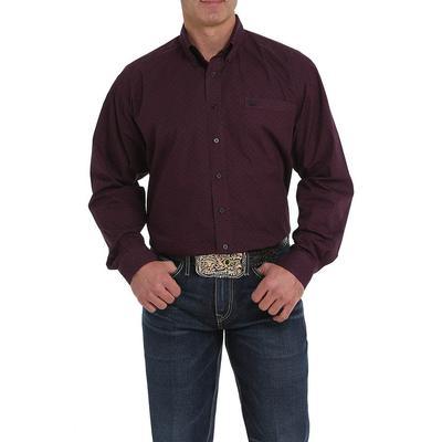 Cinch Men's Purple and Black Print Shirt