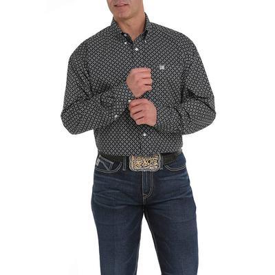 Cinch Men's Black And Gray Print Shirt