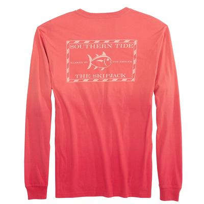 Southern Tide Men's Long Sleeve Original Skipjack Dip Dyed T-Shirt
