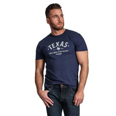 Wrangler Men's Navy Rooted Texas T-Shirt