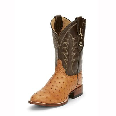 Justin Men's George Strait Full Quill Ostrich Boots