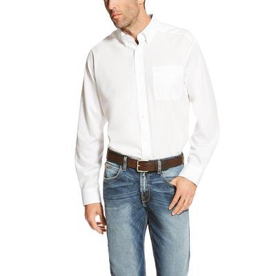 Ariat Men's White Wrinkle Free Shirt