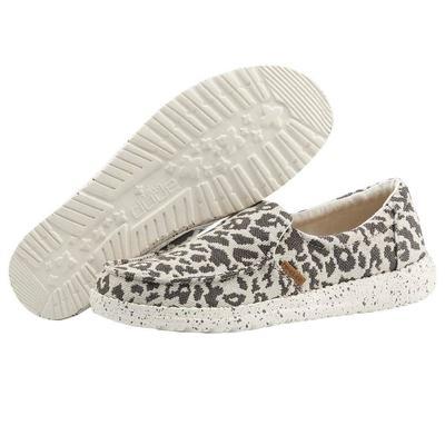 Hey Dude Women's Cheetah Grey Woven