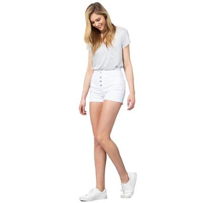 Vervet Women's White High Rise Shorts