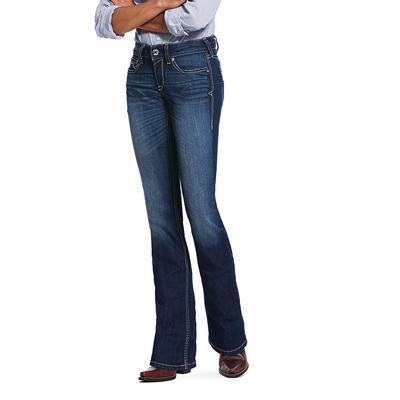 Ariat R.E.A.L.Mid Rise Stretch Blue Diamond Boot Cut Jean