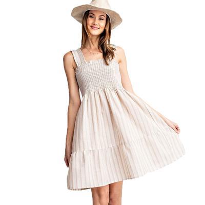 Women's Stripe Linen A-Line Dress
