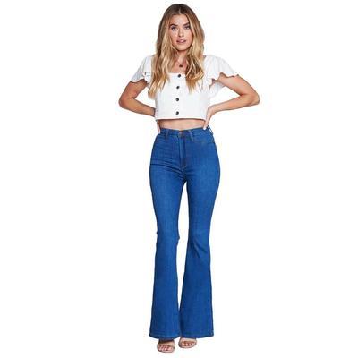 Vibrant MIU Women's Curvy Flare Jeans