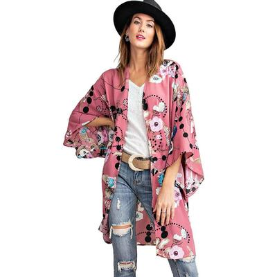 Easel Women's Floral Cardigan