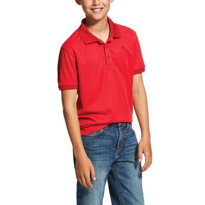 Ariat Boy's Crimson Button Polo