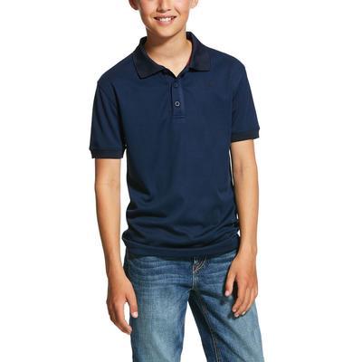 Ariat Boy's Navy Button Polo